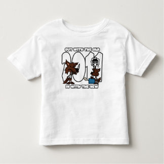 New Year Wolves 2011 Toddler Tee