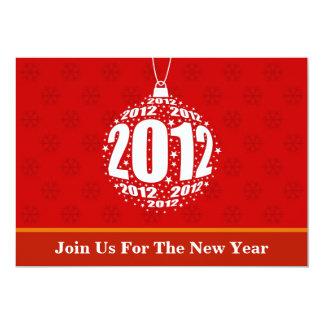 New Year's 2012 Stylish Ornament Design 13 Cm X 18 Cm Invitation Card