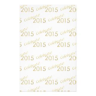 New Year's 2015 Gold Glitter on White Flyer Design