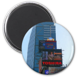 New years Ball at Times Square, NY 6 Cm Round Magnet