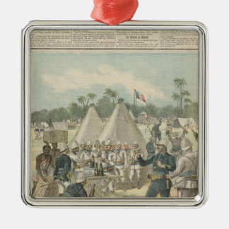 New Year's Boxes in Dahomey Silver-Colored Square Decoration