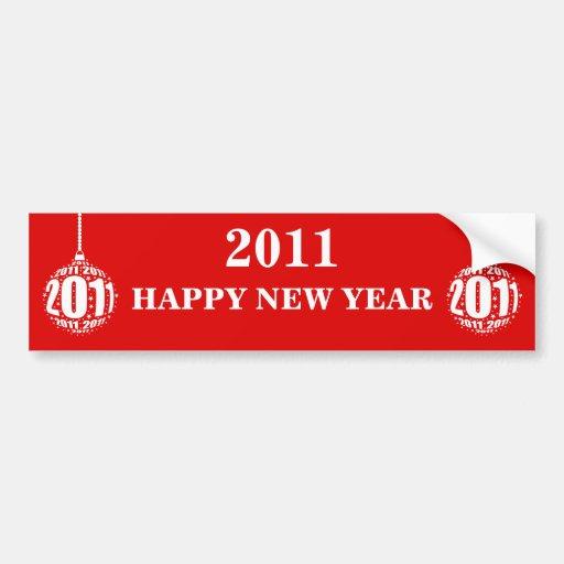 New Year's Celebration Design Bumper Stickers