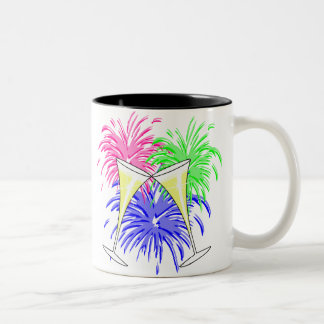 New Year's Champagne And Fire Works Mug