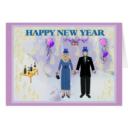 NEW YEARS COUPLE CARD
