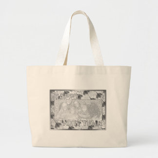 New Years Cut Out Photo Frame Chandeliers Jumbo Tote Bag