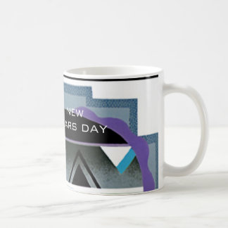 New Years Day Art Deco Coffee Mug by Janz