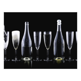 New Year's Day Champagne Toast 21.5 Cm X 28 Cm Flyer