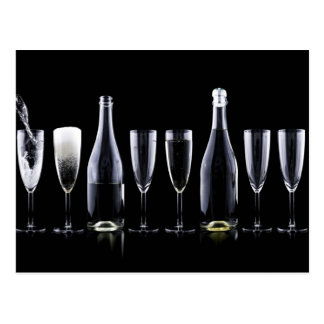 New Year's Day Champagne Toast Postcard