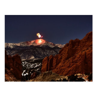 New Years' Day Fireworks on the top of Pikes Peak Postcard