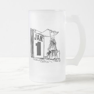 New Year's Day Frosted Glass Mug