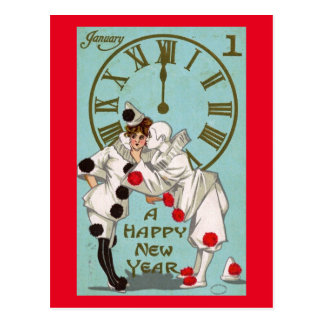 New Year's Day Greeting Vintage Postcard