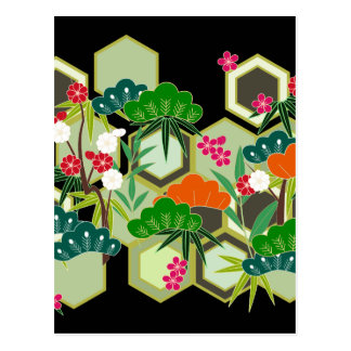 New Year's Day Japan Japanese Style Postcard