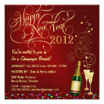 New Year's Day Party - Champagne Brunch Custom Invites