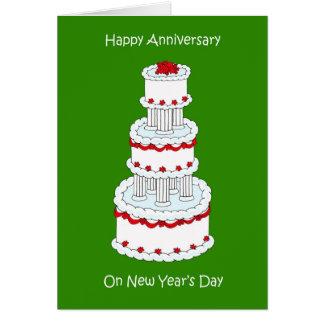 New Years Day Wedding Anniversary January 1st Card