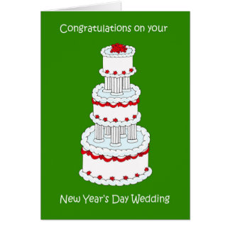 New Year's Day Wedding Congraulations Card