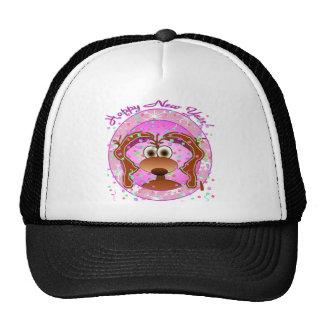 New Years Dog Mesh Hat