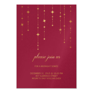 New Year's Eve/Birthday Party Invitation in Berry