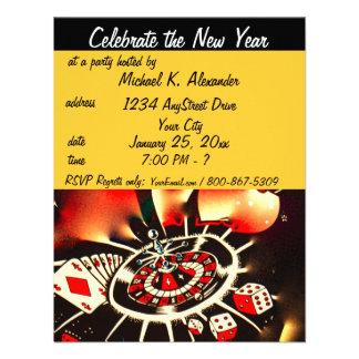 New Year's Eve Casino Theme Party Custom Invite