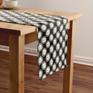 New Years Eve clock pattern party table runner