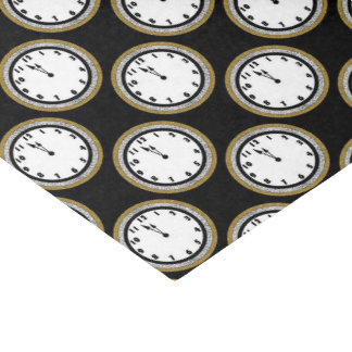 New Years Eve clock pattern tissue paper