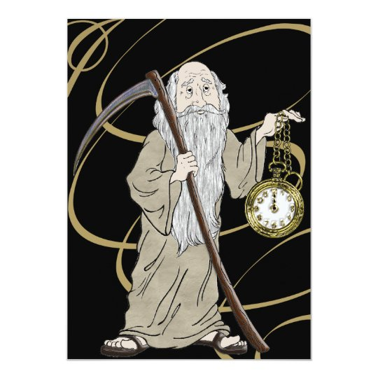 New Years Eve Father Time and His Clock
