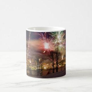 New Year's Eve Fireworks in Niederau Tyrol Austria Classic White Coffee Mug