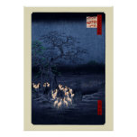 New Year's Eve Foxfires at the Changing Tree, Ōji Poster