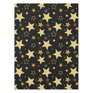 New Years Eve golden stars - Tabletop Tablecloth