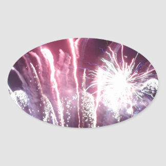 New Year's Eve kind Oval Stickers