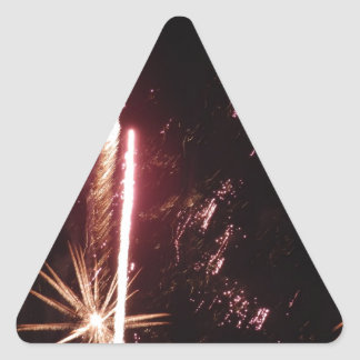 New Year's Eve kind Triangle Stickers