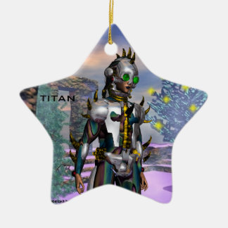 NEW YEAR'S EVE OF A CYBORG  / ARES CERAMIC STAR DECORATION