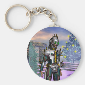 NEW YEAR'S EVE OF A CYBORG BASIC ROUND BUTTON KEY RING