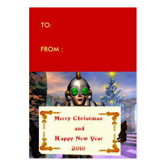 NEW YEAR'S EVE OF A CYBORG gift tag Business Card