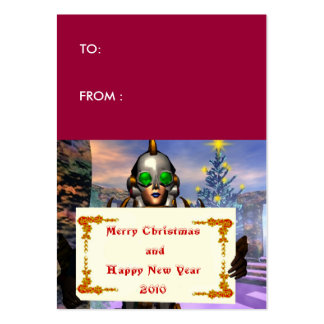NEW YEAR'S EVE OF A CYBORG gift tag Business Card Templates