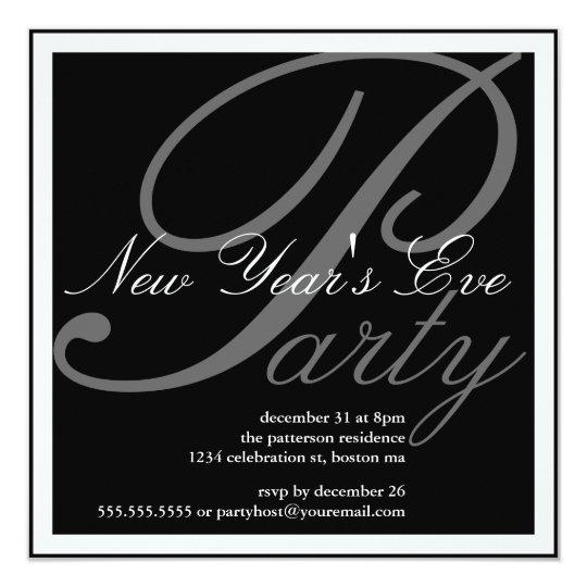 New Year's Eve Party Celebration Invitation