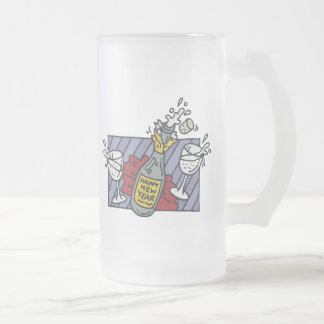 New Year's Eve Party Frosted Glass Mug