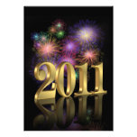 New years eve party invitation fireworks