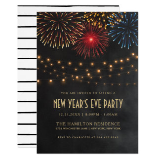 NEW YEAR'S EVE PARTY INVITATION | String Lights