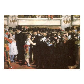 New Year's Eve Party, Masked Ball Opera by Manet Personalised Announcement
