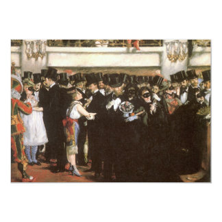 New Year's Eve Party, Masked Ball Opera by Manet Invitation