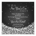 New Years Eve Party Night Sparkle Black 13 Cm X 13 Cm Square Invitation Card
