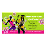 New Year's Eve Party Photo Card Dancing Lime