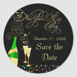 New Year's Eve Party - Save the Date Stickers