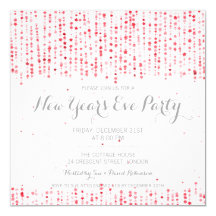 New Years Eve Party Star Confetti Red