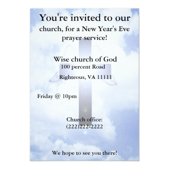 New Year's eve prayer Invitation
