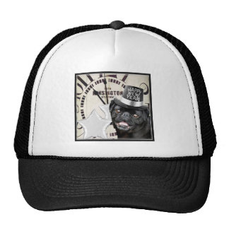 New Year's Eve pug dog Trucker Hat