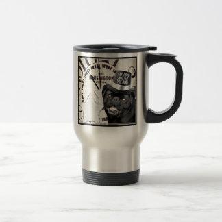 New Year's Eve pug dog Stainless Steel Travel Mug