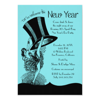 New Year's Eve Roaring 20's Party Card
