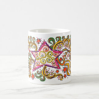 New Year's Eve Star, pen/ink design Coffee Mugs