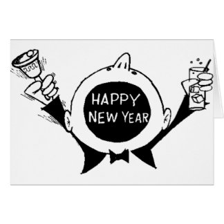 New Year's Eve T-Shirts, New Years Eve Gift Greeting Card